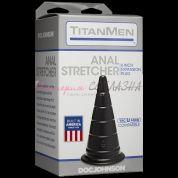 Анальная конусообразная пробка-пирамидка из упругого материала