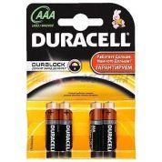 Элемент питания Duracell LR03-4bl basic (мизинчиковая)