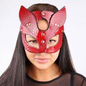 Сексуальная маска Кошки красного цвета